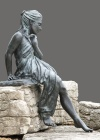 Cast in bronze using the lost wax method. This figure was designed to compliment pond or garden environments.
