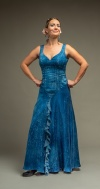 The dress represents WATER, one of the four Ancient Greek Elements. The lyrics for the flamenco song