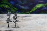 Unframed, this painting was created as a result of a commission with the same theme, but using Chinese Brush Painting techniques.  My intent was to capture the vastness of Canada, finding beauty in the land. Email:  Laura@LauraBeaton.com for questions or to arrange an on-line viewing.