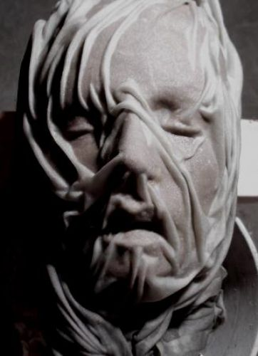 untitled, clay sketch..currently being carved in black marble