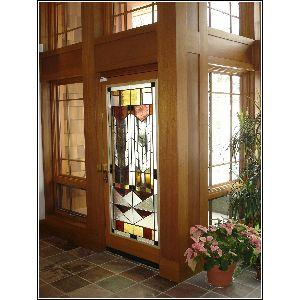 Leaded mouthblown German antique glass with architectural glass